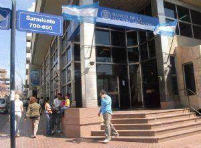 Miércoles y viernes sin actividad en Banco Nación
