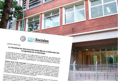 La UBA pidió votar a Scioli: