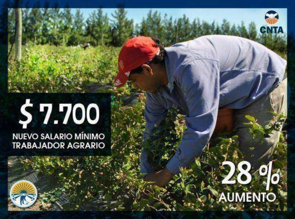 En Paritarias se fijo un 28% de aumento para los trabajadores agrarios