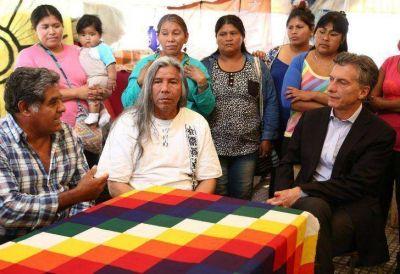 Macri visitó al líder Qom, Félix Díaz, para mostrarle su apoyo