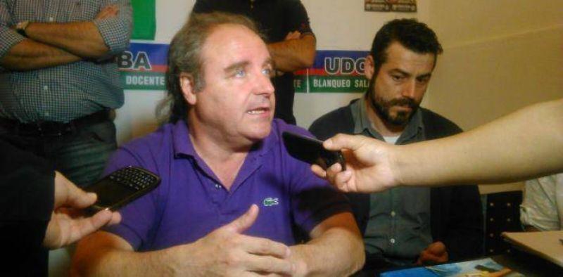 Miguel Díaz estuvo en San Pedro, luego de enterarse que los tres docentes afiliados a UDOCBA están detenidos por abuso sexual