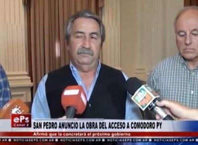 San Pedro anunció que llegó el dinero para las obras en el acceso a Comodoro Py