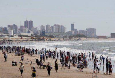 Un domingo a pura pesca en Mar del Plata