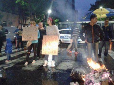 Marcha por joven baleado por efectivo de la Metropolitana