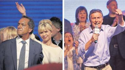 Scioli y Macri ya se preparan para un debate que prevén tenso