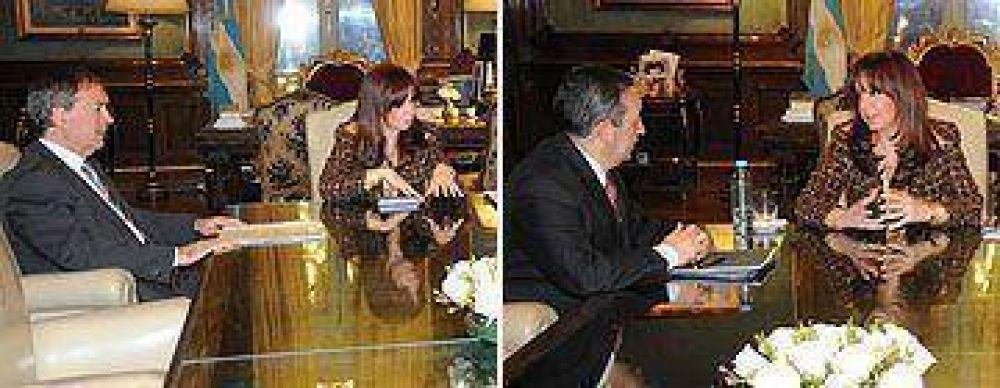 Jaque y Schiaretti le pidieron a Cristina más recursos