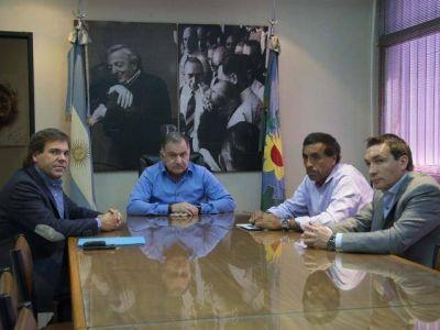 Pereyra analizó el plan de obras públicas con Pérez