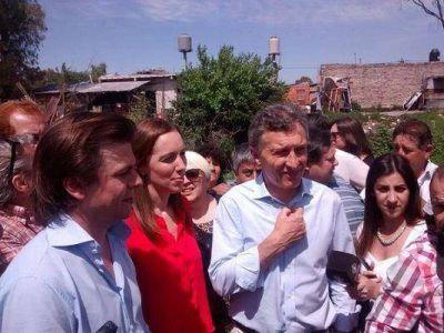 Macri, Vidal y Mercuri recorrieron obras inconclusas en Lomas