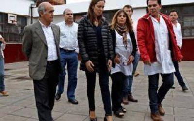 Vidal y Salvador visitaron una escuela en José C. Paz