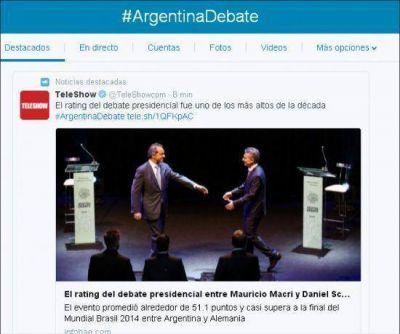 #ArgentinaDebate fue trending topic con más de un millón de menciones