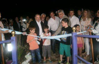 Jorge inaugur� obras en Caleuf�, su pueblo natal