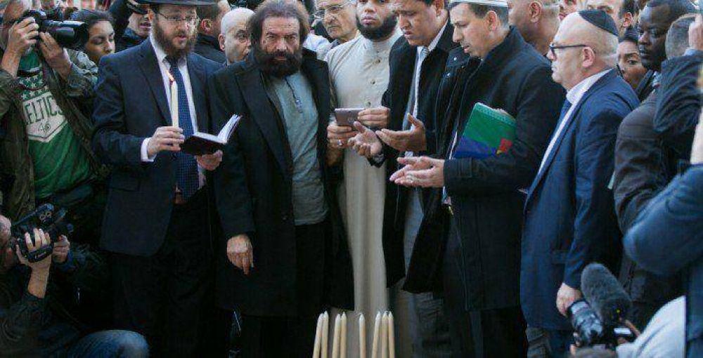 Líderes judíos y musulmanes se unieron para recordar a las víctimas de los atentados de París