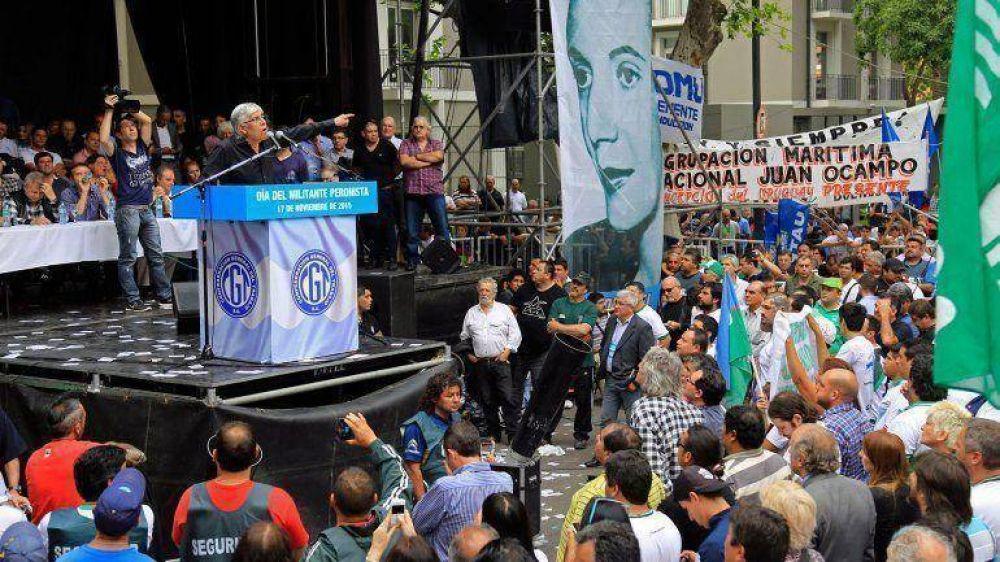 Hugo Moyano le hizo un guiño a Mauricio Macri de cara al ballotage