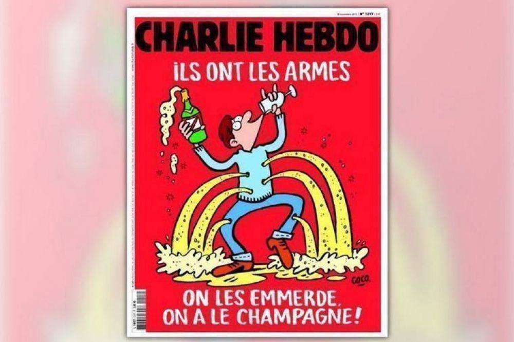 """""""Ellos tienen las armas, nosotros el champagne"""", la portada de Charlie Hebdo"""