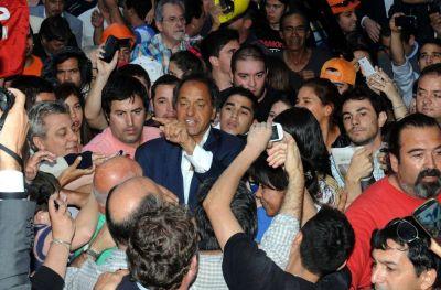 En Mendoza, Scioli privilegió a la gente