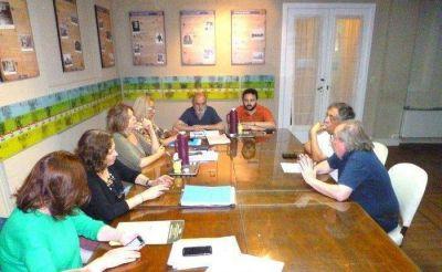 Concejales con representantes del Club Rivadavia