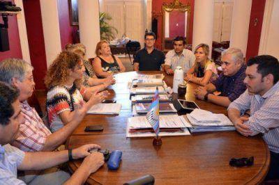 Fabi�n R�os y Any Pereyra mantuvieron un positivo encuentro con representantes de comparsas