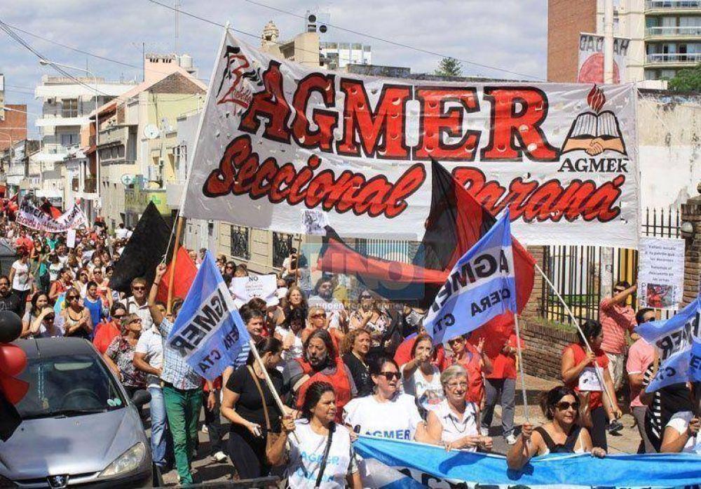 Docentes de Agmer Paraná harán asamblea en las escuelas este viernes