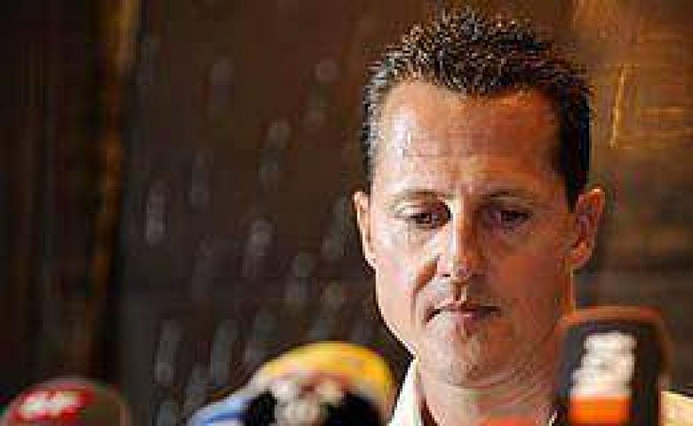 """Schumacher calificó de """"triste"""" tener que renunciar a la Fórmula 1"""