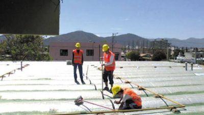 Trabajos para evitar filtraciones por lluvias en las escuelas