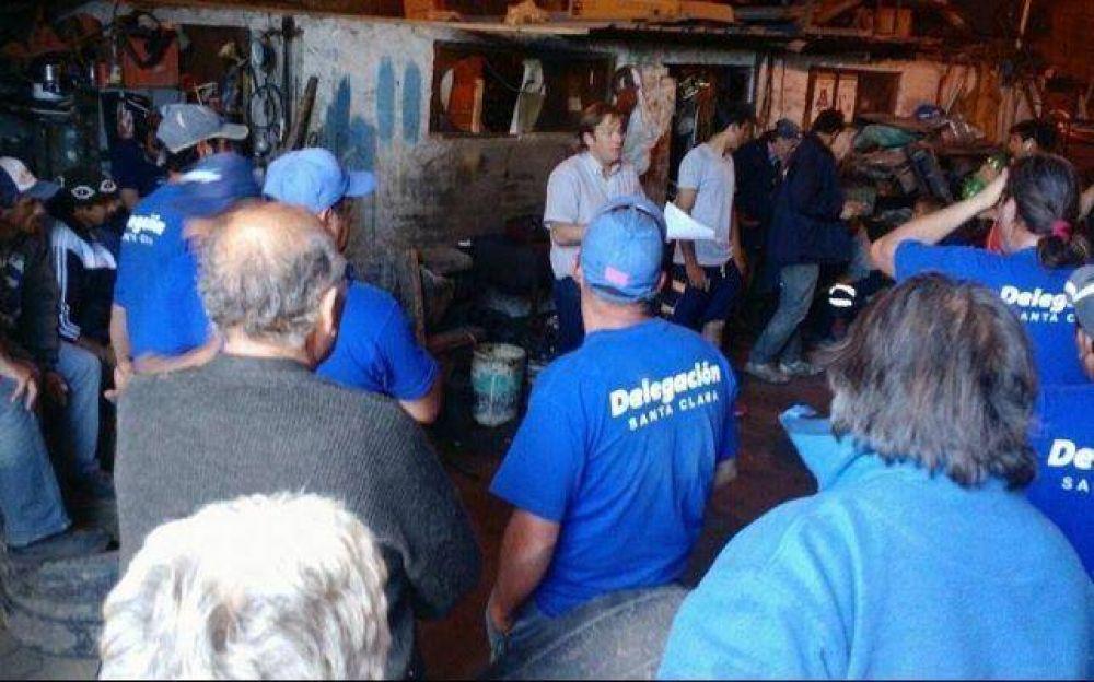 Paro de empleados municipales: Córdoba y De Santolo estuvieron en Santa Clara
