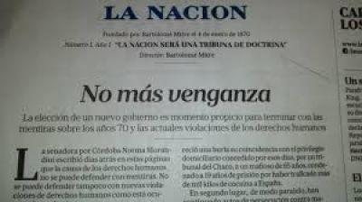 Amplio repudio al editorial de La Nación que pidió a Macri impunidad para represores