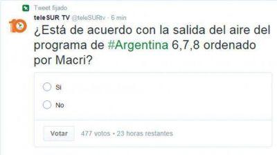 Según el canal estatal chavista, Mauricio Macri levantó 678