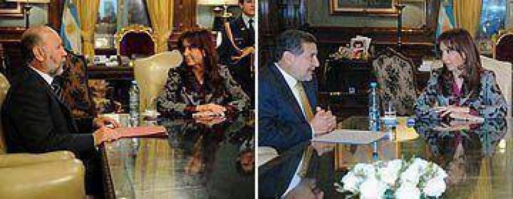 La Presidente continuó la ronda de reuniones con gobernadores