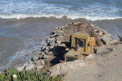 Avanza la construcción de espigón a la altura de Santa Elena