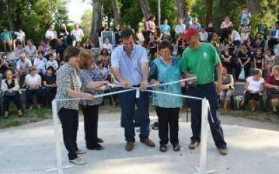 General Rodríguez: Anghileri inauguró anfiteatro de la Casa de la Cultura
