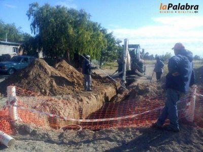 Curetti confirmó la continuidad de la obra de cloacas para El Progreso y 150 viviendas