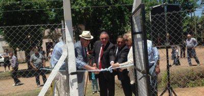 Gorosito y Viñales inauguraron el servicio de agua potable en Polvaredas