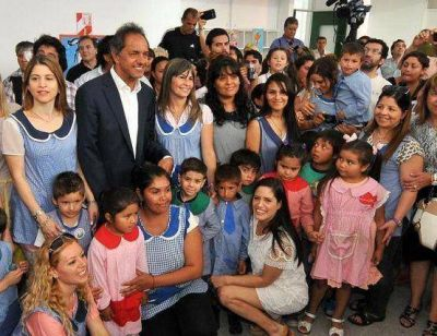 Scioli inauguró jardín de infantes
