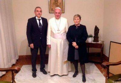 Reapareció Moreno y fue recibido por el papa Francisco