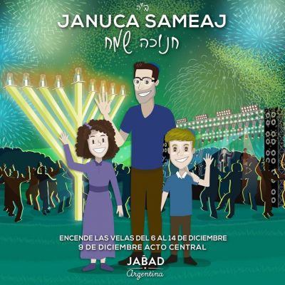 Jabad Luvabitch. Buenos Aires tendrá su encendido de velas por Jánuca