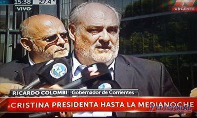Embajada correntina en la jura de Mauricio Macri