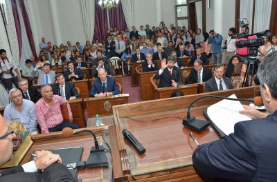 En la sesión preparatoria del Senado se designó a Ballestena vicepresidente primero y a Mattiauda vice segundo