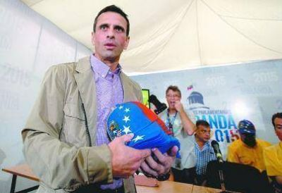 Grave amenaza de Capriles al gobierno