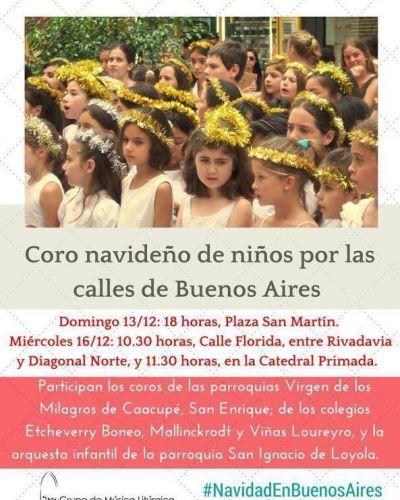 Presentación de los Coros Navideños de Niños por las calles de la Ciudad