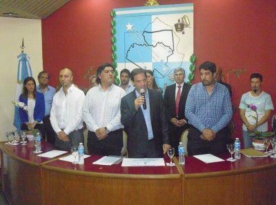 Ariel Sujarchuk presentó su gabinete para Escobar