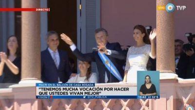 La TV Pública se deskirchnerizó durante los actos de la asunción presidencial