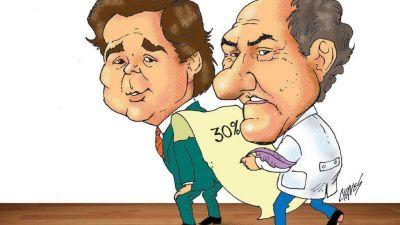 Scioli: oscuro negociado para saquear los salarios de docentes y estatales