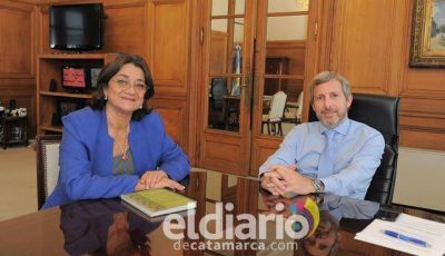 Primer encuentro oficial entre Lucía Corpacci y el ministro del Interior Rogelio Frigerio