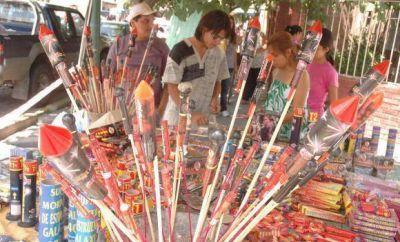 Prohibieron vender artículos de pirotecnia en Rivadavia