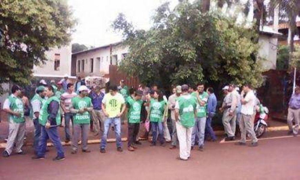 Municipales de la zona norte reclaman salarios y estabilidad laboral