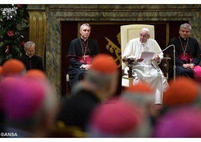 Felicitaciones navideñas del Papa a la Curia Romana