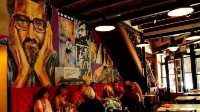 Wnętrze Café Cortazar