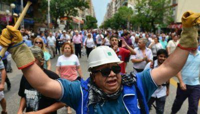 Marcha de estatales contra reforma previsional