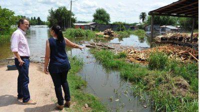 Bordet confirmó obras en ciudades que están afectadas por las inundaciones