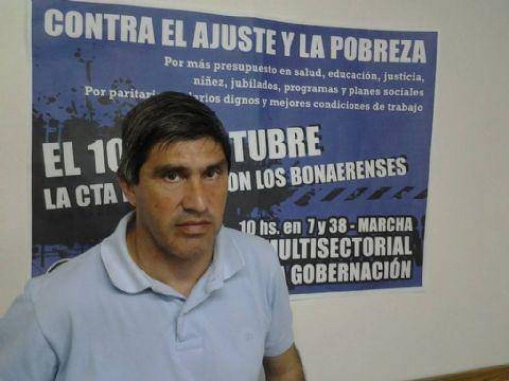"""Adrián Lescano: """"Paramos en defensa de 24 mil compañeros trabajadores"""""""